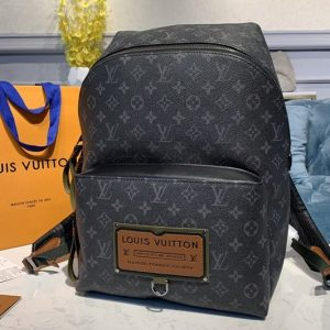 Replica Louis Vuitton M45218 LV Apollo Discovery Backpack PM Bags in Monogram Eclipse Canvas
