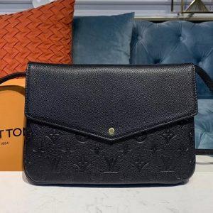 Replica Louis Vuitton M50185 LV Twinset Bags Black Taurillon leather