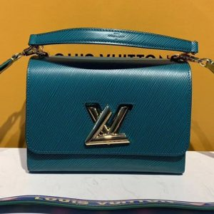 Replica Louis Vuitton M50282 LV Twist MM handbags Blue Epi Leather