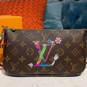 Replica Louis Vuitton M51980 LV Pochette Accessoires With Sunflower Bags Monogram Canvas
