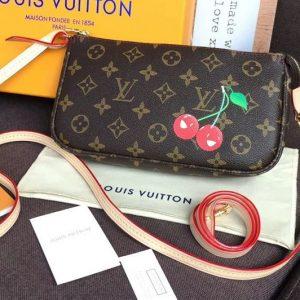 Replica Louis Vuitton M51980 LV Pochette Accessoires With Cherry Bags Monogram Canvas