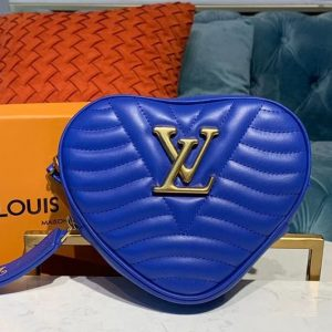 Replica Louis Vuitton M55293 LV New Wave Heart Bag handbags Blue Smooth Calf leather