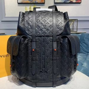 Replica Louis Vuitton M53285 LV Christopher Backpack GM Bags Black Taurillon leather