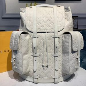 Replica Louis Vuitton M53286 LV Christopher Backpack GM Bags White Taurillon leather