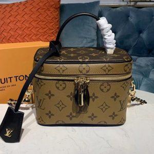 Replica Louis Vuitton M44495 LV Nice Mini beauty case Bags Monogram Reverse canvas