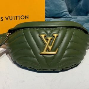 Replica Louis Vuitton M44836 LV New Wave BumBag Bags Green Smooth calf leather