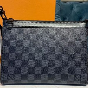 Replica Louis Vuitton M54330 Triangle Shaped Shoulder Bags Damier Graphite Canvas