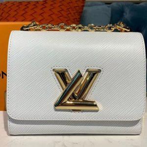 Replica Louis Vuitton M54278 LV Twist PM chain bags White Epi leather