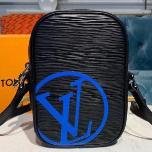 Replica Louis Vuitton M55120 LV Danube PM Bags Black Epi Leather