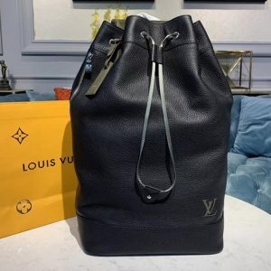 Replica Louis Vuitton M55171 LV Noe Backpack Black Taurillon leather