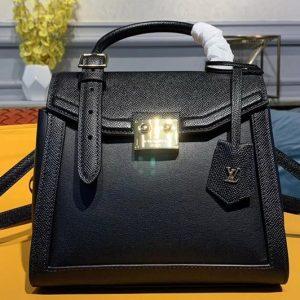 Replica Louis Vuitton M55335 The LV Arch handbags Black Calf Leather