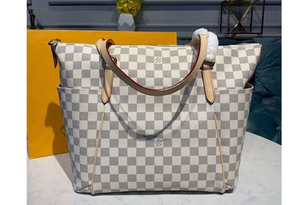 Replica Louis Vuitton M56689 LV Totally MM Bags Damier Azur Canvas