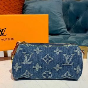 Replica Louis Vuitton M58117 LV Clutch bags Blue Monogram Denim Canvas