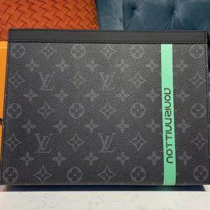 Replica Louis Vuitton M61692 LV Pochette Voyage MM Bags Monogram Eclipse Canvas