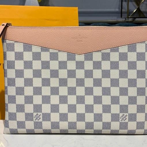 Replica Louis Vuitton N60260 LV Daily Pouch in Damier Azur canvas