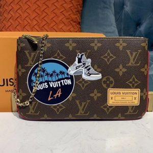 Replica Louis Vuitton M67561 LV Pochette Double Zip Bags Monogram canvas