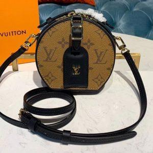 Replica Louis Vuitton M68276 LV Mini Boite Chapeau handbag Monogram Reverse Canvas