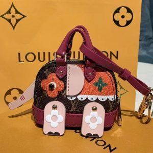 Replica Louis Vuitton M68454 LV Wild Puppet Alma Elephant bag charm and key holder Multicolored Monogram canvas