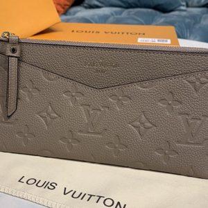 Replica Louis Vuitton M68714 LV Pochette Melanie BB Bag in Beige Monogram Empreinte leather