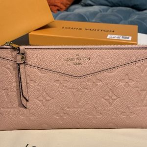 Replica Louis Vuitton M68713 LV Pochette Melanie BB Bag in Pink Monogram Empreinte leather