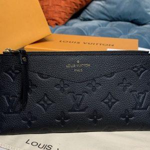 Replica Louis Vuitton M68712 LV Pochette Melanie BB Bag in Black Monogram Empreinte leather