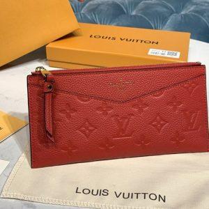 Replica Louis Vuitton M68713 LV Pochette Melanie BB Bag in Red Monogram Empreinte leather