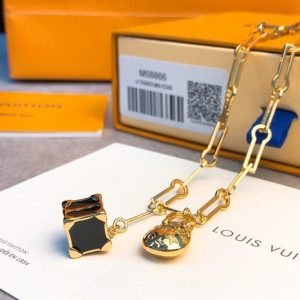 Replica Louis Vuitton M68933 LV Minigram necklace