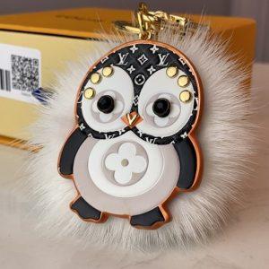 Replica Louis Vuitton M69007 LV Penguin Fur bag charm and key holder
