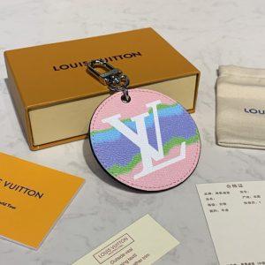 Replica Louis Vuitton M69273 LV Escale key holder and bag charm In Pastel Monogram Canvas