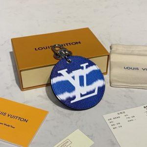 Replica Louis Vuitton M69272 LV Escale key holder and bag charm In Blue Monogram Canvas
