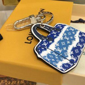 Replica Louis Vuitton M69292 LV Escale Speedy key holder and bag charm In Blue Monogram Canvas