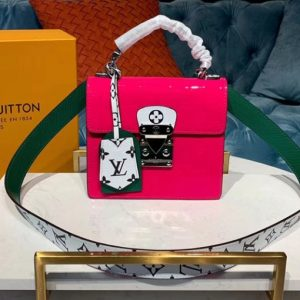 Replica Louis Vuitton M90454 LV Spring Street Bags in Rosy Monogram Vernis patent leather