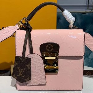 Replica Louis Vuitton M90468 LV Spring Street Bags in Pink Monogram Vernis patent leather