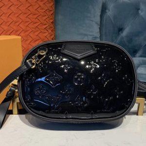 Replica Louis Vuitton M90464 LV Beltbag Black Monogram Vernis patent leather