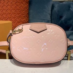 Replica Louis Vuitton M90531 LV Beltbag Pink Monogram Vernis patent leather