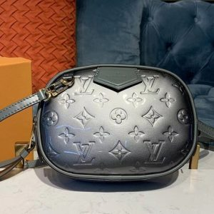 Replica Louis Vuitton M90510 LV Beltbag Champagne Monogram Vernis patent leather