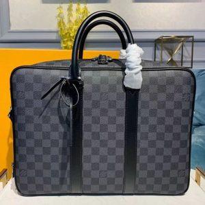 Replica Louis Vuitton N40007 LV Briefcase Bags Damier Graphite Canvas