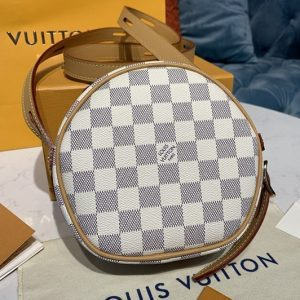 Replica Louis Vuitton N40333 LV Boite Chapeau Souple PM handbag in Damier Azur canvas