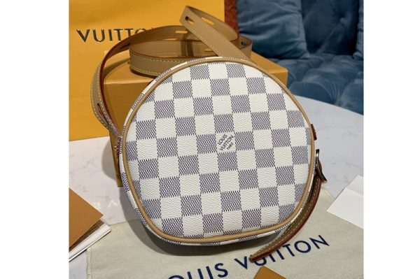 Replica Louis Vuitton N40333 LV Boite Chapeau Souple PM handbag in Damier Azur canvas
