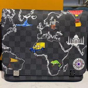 Replica Louis Vuitton N41028 LV District PM Bags Damier Graphite Canvas