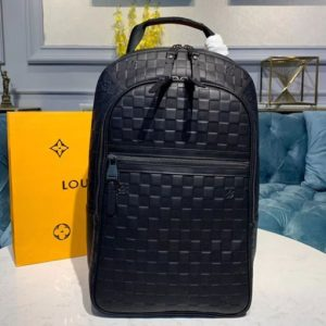 Replica Louis Vuitton N41330 LV Michael Backpack Black Damier Infini leather