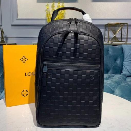 Replica Louis Vuitton N41330 LV Michael Backpack Black Damier Infini leather
