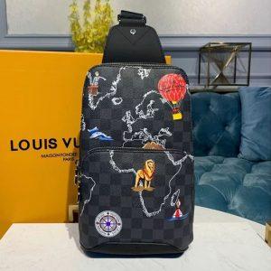 Replica Louis Vuitton N41719 LV Avenue Sling Bags Damier Graphite Canvas