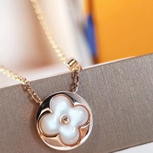 Replica Louis Vuitton Q93520 LV Color Blossom Sun Pendant Pink Gold and White Mother of Pearl