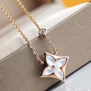 Replica Louis Vuitton Q93612 LV Color Blossom BB Star Pendant Pink Gold and White Mother of Pearl and Diamond