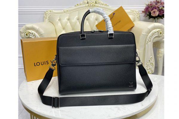 Replica Louis Vuitton M30440 LV Alex Briefcase in embossed Taiga leather