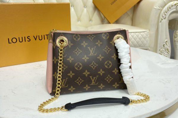Replica Louis Vuitton M43777 LV Surene BB handbag in Monogram canvas and grained calf leather