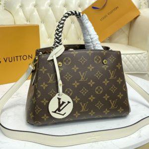 Replica Louis Vuitton M45311 LV Montaigne BB handbag in Monogram coated canvas