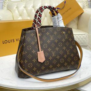Replica Louis Vuitton M45310 LV Montaigne MM handbag in Monogram coated canvas