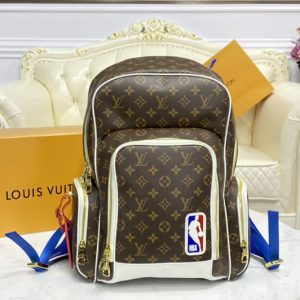 Replica Louis Vuitton M45581 LV LVxNBA New Backpack In Monogram coated canvas